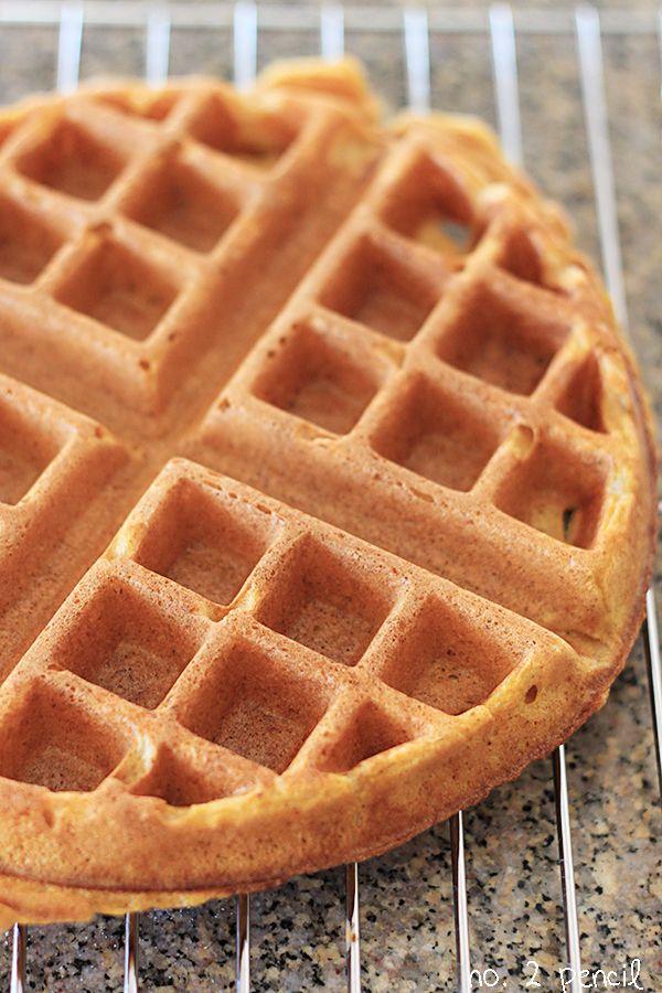 Pumpkin Waffles ... Beating egg whites till fluffy and folding into batter makes the waffles light.