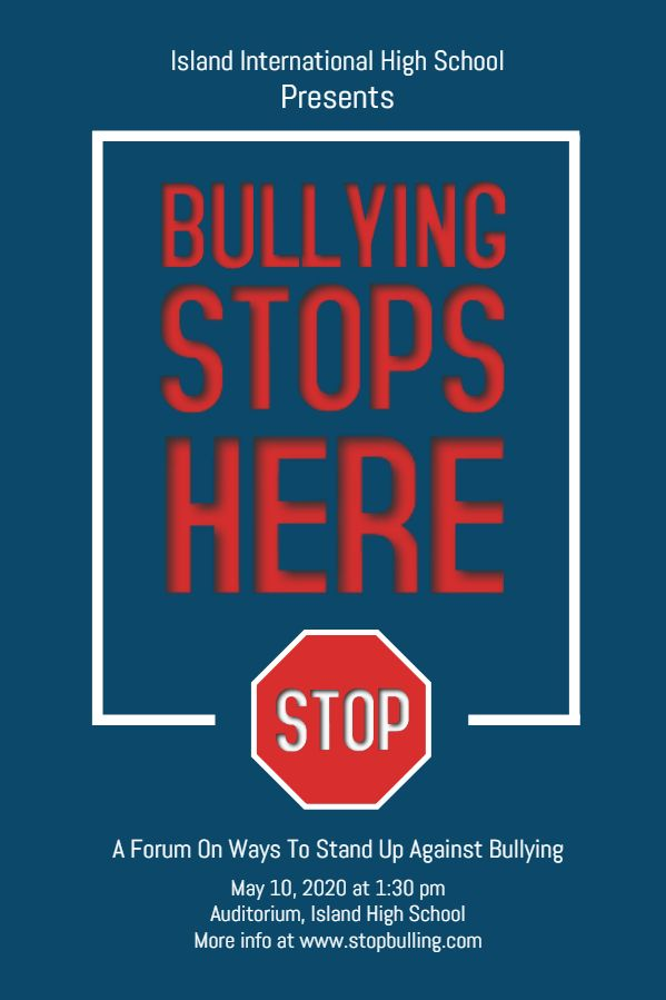 Stop Bullying Event Poster Template Bullying Posters