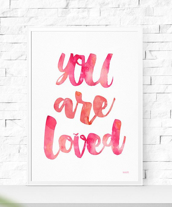 Art Digital Print Poster You Are Loved от MaximusType на Etsy