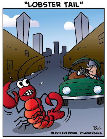 """Lobster Tail"" follow us on Facebook: www.fb.com/evilcrayoncartoons | Evil Crayon Cartoons ..."