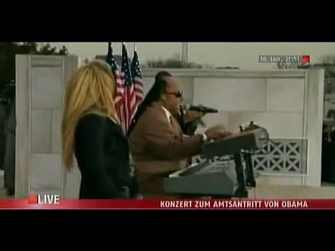 Usher   Shakira   Stevie Wonder -  Higher Ground  - The Obama Inaugural ...