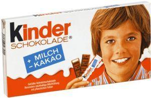 Kinderschokolade; verpackung veränderte sich  leicht zu Früher.