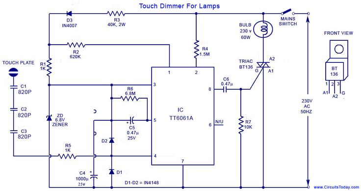 Pin On Touch Lamp, Touch Control Lamp Dimmer