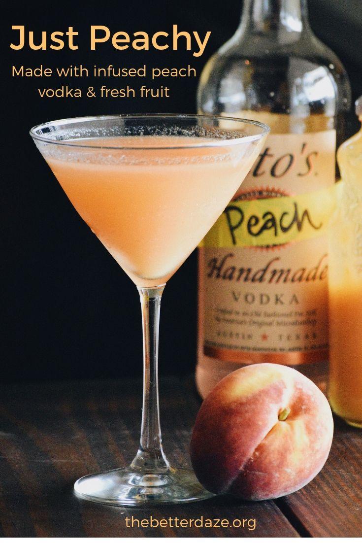 Just Peachy Peach Infused Titos Vodka Peach Vodka Titos Vodka Recipes Alcohol Drink Recipes