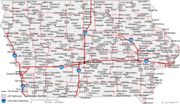 map of iowa cities iowa road map