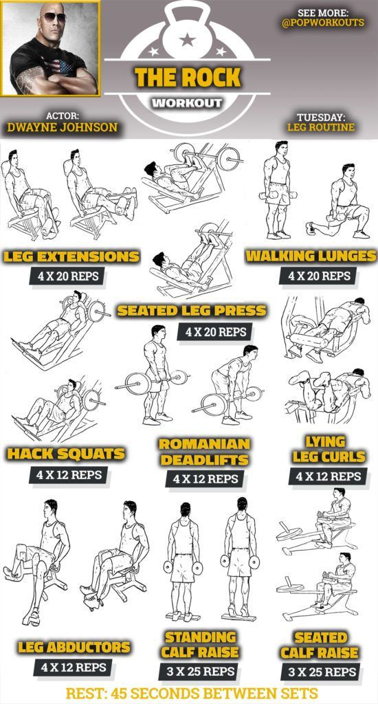 The Rock Legs Workout Routine