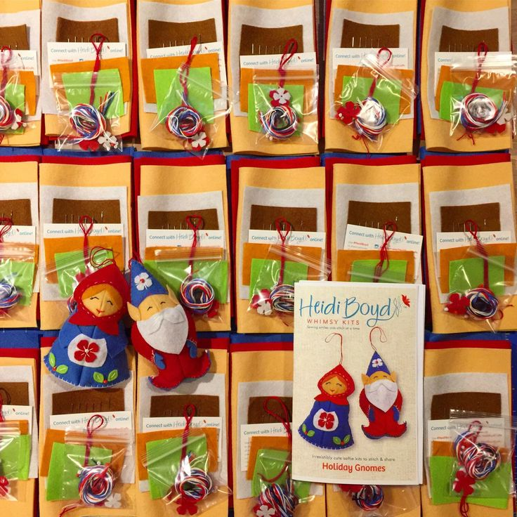 Happily packing lots of all inclusive Holiday Gnome kits. Have you started creating for Christmas?