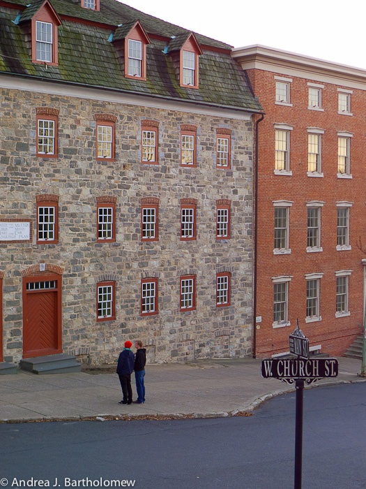Stone buildings at Moravian College in PA