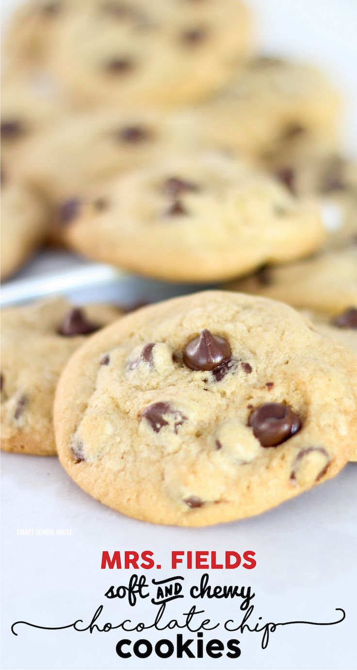 Mrs fields chocolate chip cookie recipes