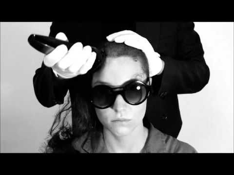 Lala gets head shaved before going to art prison  http://basedonafact.wordpress.com/2014/07/11/convicted-of-muse-abuse/ #artist #paris #laladrona #basedonafact #artprison #scandal #artvideo