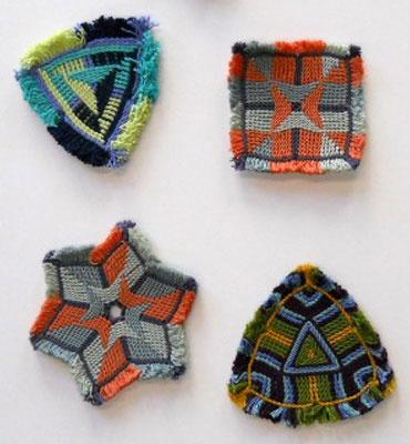Ply split braid coasters or trivets