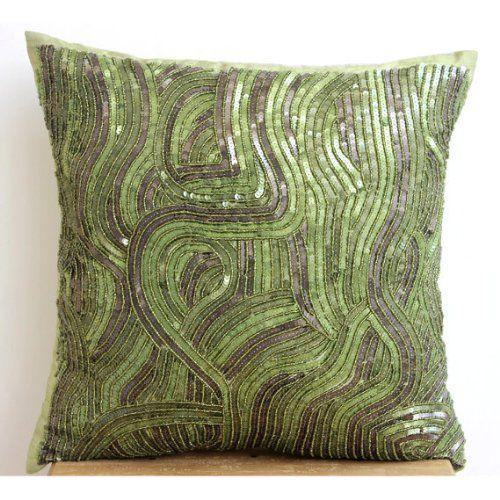 "Designer Green Throw Pillows Cover, , 12""x12"" Throw Pillo... https://www.amazon.com/dp/B00J2CB1JG/ref=cm_sw_r_pi_dp_x_SrrYyb24PXJH4"