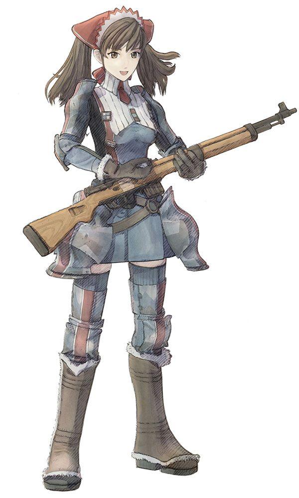 ribbon // Valkyria Chronicles #rifle #female #military