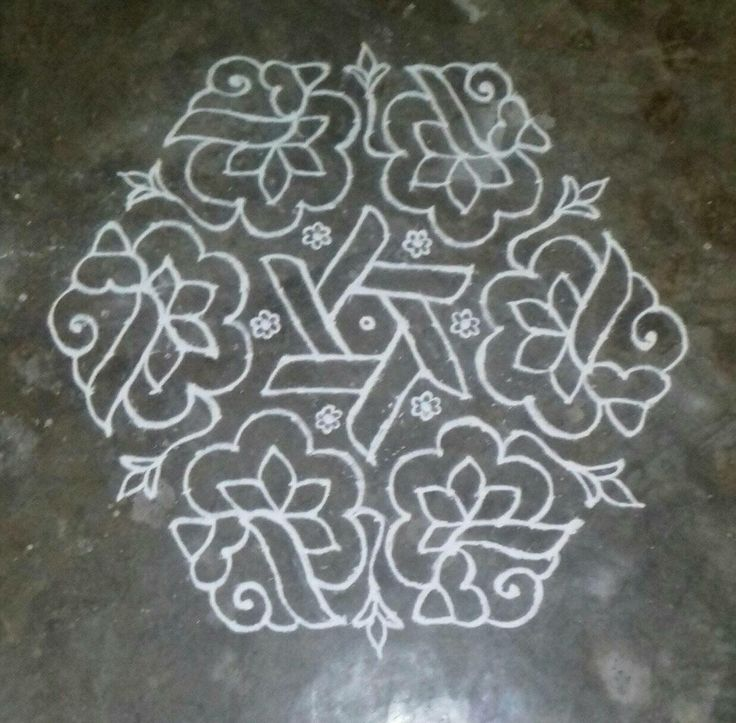 723 best kolam images on pinterest floor design rangoli for Floor rangoli design