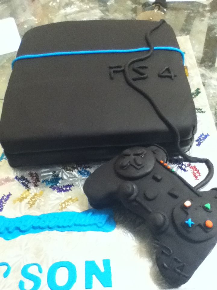 Playstation cake for a great 16 th birthday                                                                                                                                                                                 More
