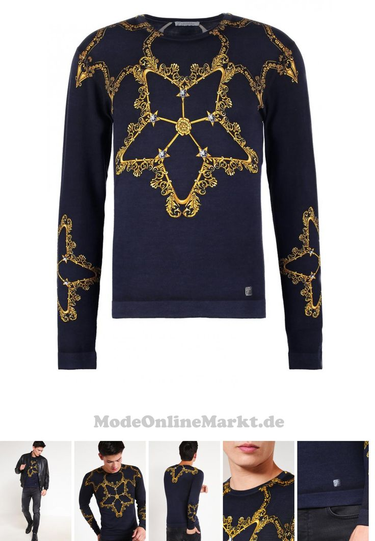 08052555509578 | #Versace #Collection #Strickpullover #blu #für #Herren