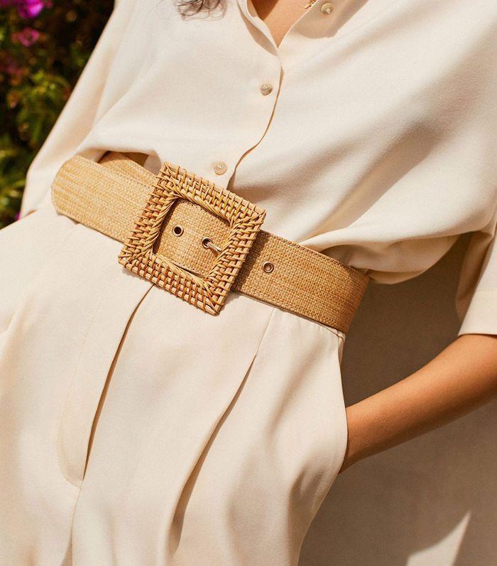 Raffia buckle belt - Women | MANGO USA | Women belts fashion, Belts for  women, Career fashion