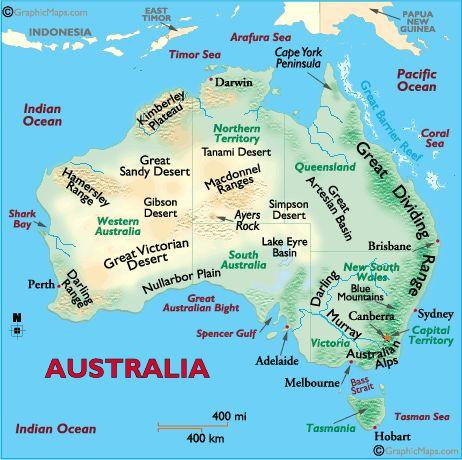 Lanforms map of Australia. Make a textured map of australia.