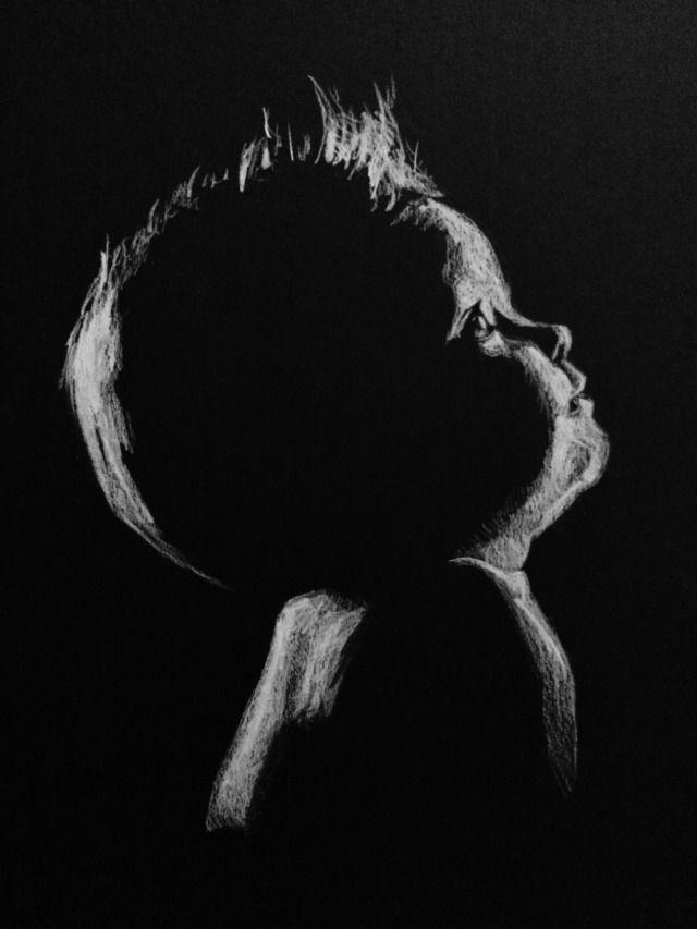 Картинки на черной бумаге