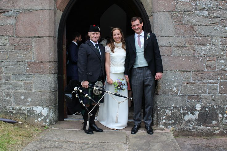 A visit to St. Teilo's Church near Abergavenny today for the marriage of Harry & Flora. Congratulations to the lovely couple. It was a honour to be part of your Special Day. All the best for the future. Louise & John :-) #SouthWales #Weddingmusic #Bagpipes #Cardiff #Newport #Torfaen #Cwmbran #Abergavenny #Brecon #Hereford #Chepstow