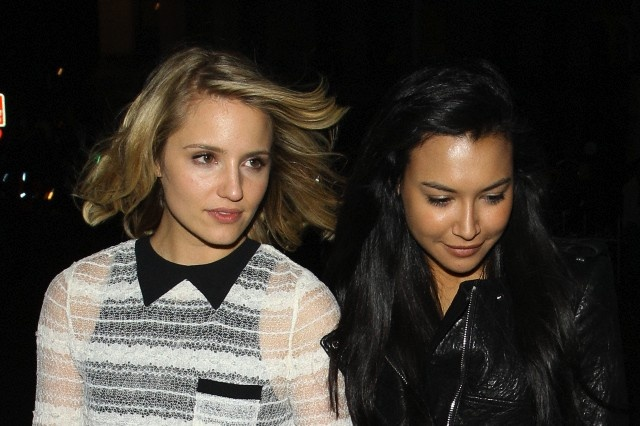 Dianna Agron and Naya Rivera, out on a date