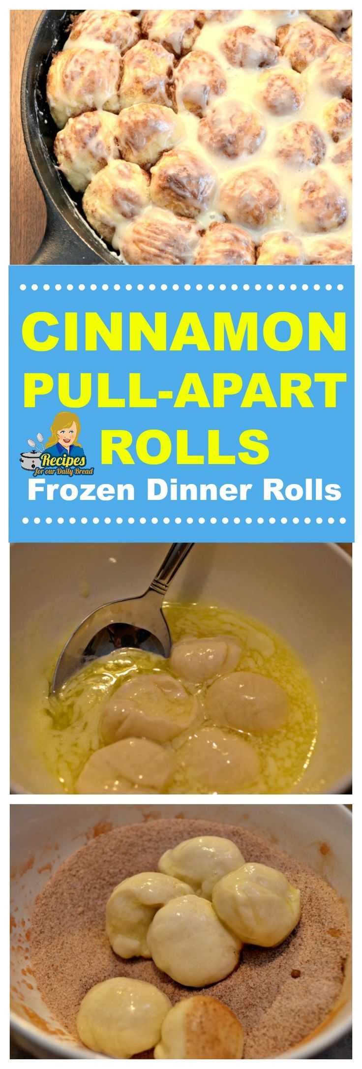Cinnamon Pull-Apart Rolls are super simple to make with Frozen Dinner Rolls. I am going to give you step by step instructions to make it easy for you to make these fabulous Cinnamon Pull-Apart Rolls. SEE FULL RECIPE HERE: https://recipesforourdailybread.com/easy-cinnamon-pull-apart-rolls/