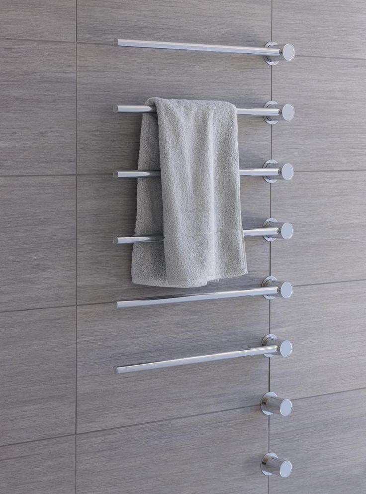 T39ELUS: Towel warmer – electric 120V.VOLA built-in modular heated towel rail for individual design soluti...