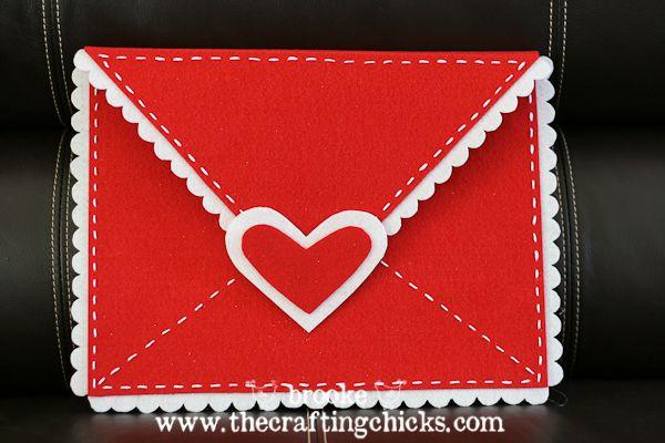 DIY Felt Valentine Envelopes {Pottery Barn Kids style}