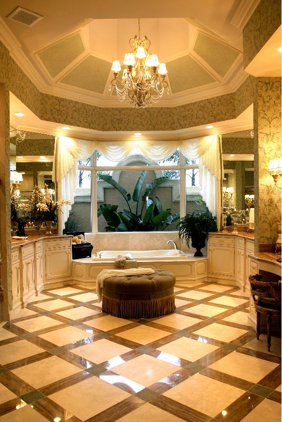 beautiful bathroom, bathroom view, bathroom courtyard, bathroom flooring, glazed cabinets