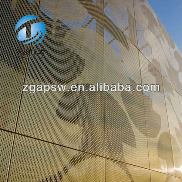 Iso9001 перфорированный металл облицовка стен панели