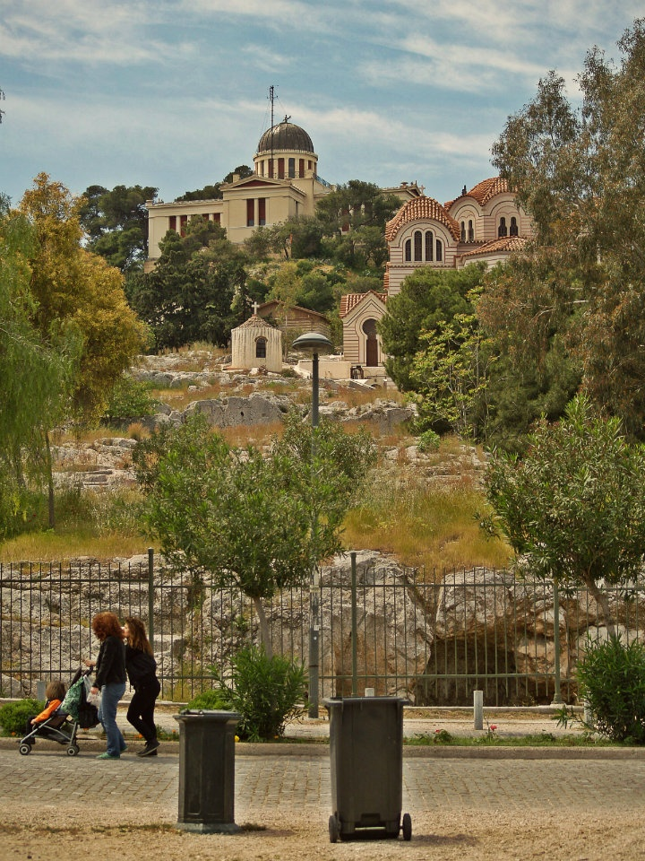 The National Observatory sits on the top of Nymfon Hill. (Walking Athens, Route 07 - Philopappos Hill)