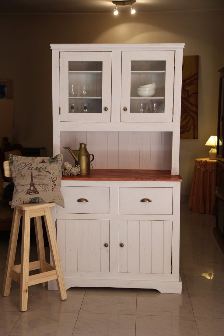 Mueble alacena vajillero estilo antiguo campo country - Muebles estilo country ...