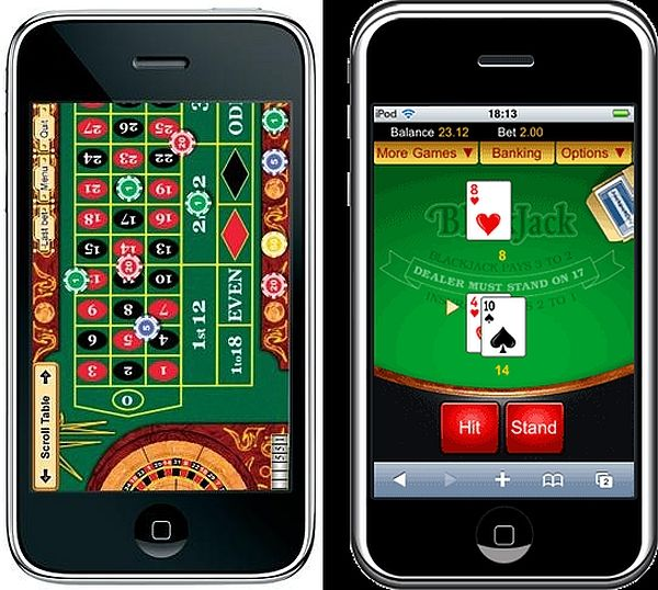 Blackjack and Roulette rendering on iPhone