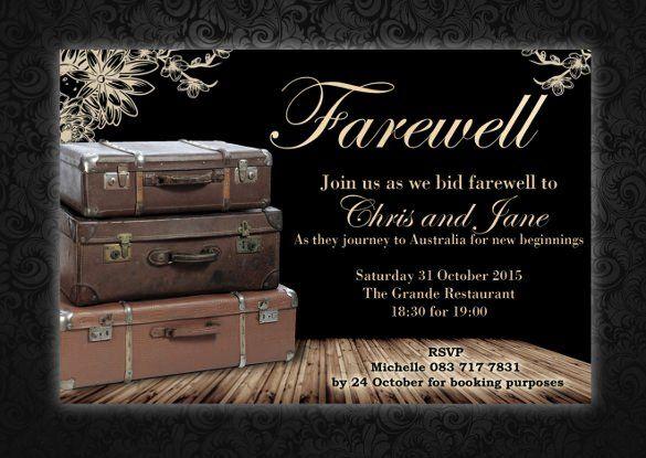 Farewell Invitation Template Free Elegant Sample Farewell Invitation Template 8 Download Party Invite Template Farewell Party Invitations Invitation Template