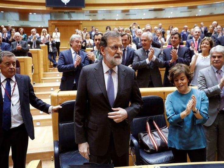 """Rajoy pide autorización al Senado para el 155: """"El desafío afecta España entera"""""""