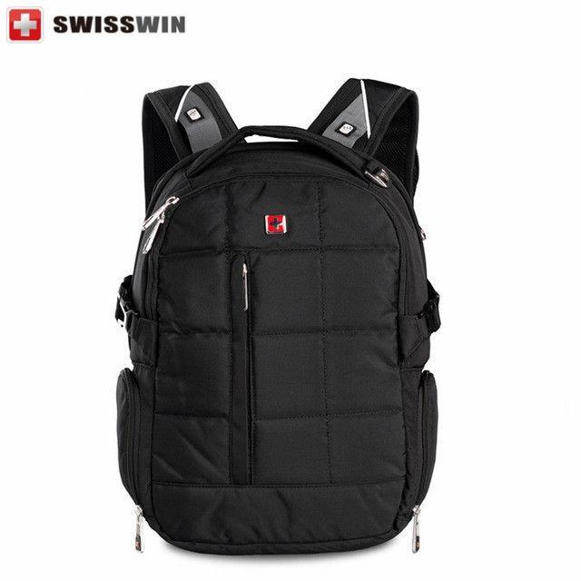 "(48.92$)  Buy here - http://aid42.worlditems.win/all/product.php?id=32796970660 - ""Swisswin Brand Backpack Men Swissgear School Backpack Boys Waterproof 16.5"""" Laptop Backpack Male Orthopedic Satchels"""