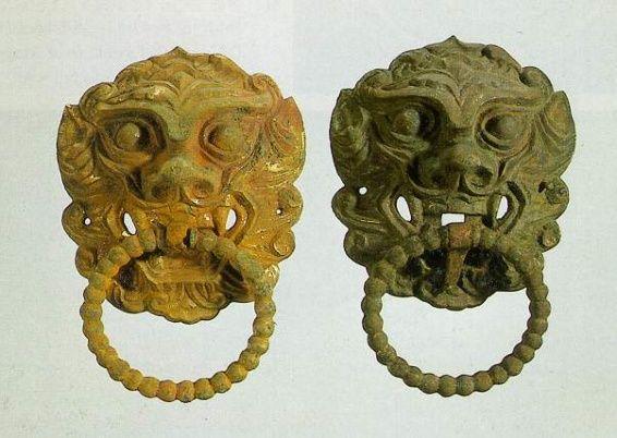 금동문고리(안압지)  통일신라8-9세기