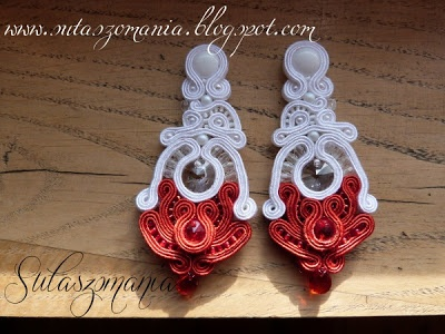 soutache earrings, kolczyki, sutasz