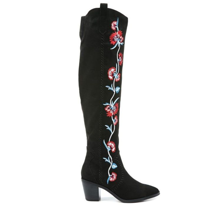 Carlos BY Carlos Santana Women's Quality Over The Knee Boots (Black Micro)
