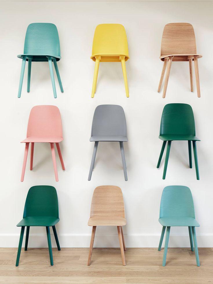 Muuto chairs / PINK MINT YELLOW TAN GRASS GREEN GREY