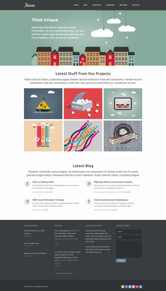 Ikaros - Responsive WordPress Business & Portfolio http://themeforest.net/item/ikaros-responsive-wordpress-business-portfolio/2917994?ref=wpaw #web #design #portfolio