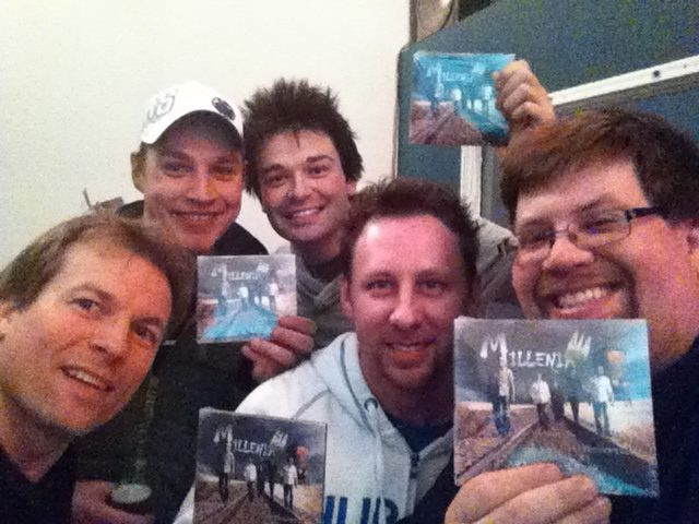Millenia - Ryan, Bobby, Johnny, Shawn, and Mike showing off the new CD, Bratya!
