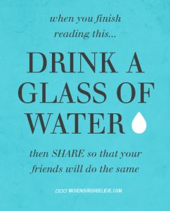 6 reasons to drink more water