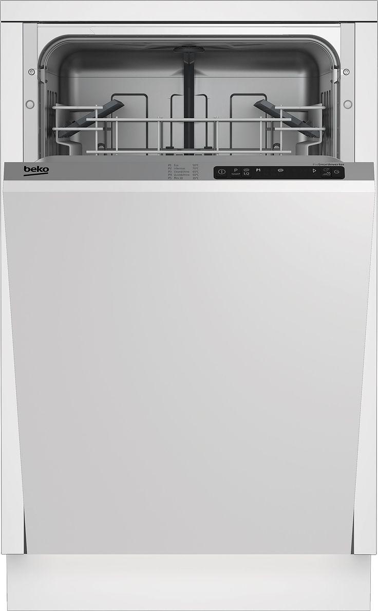 Beko DIS15011 Integrated Slimline Dishwasher, White | Departments | DIY at B&Q