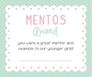 Free Printable Awards to go along with certification awards...specific to the girls...