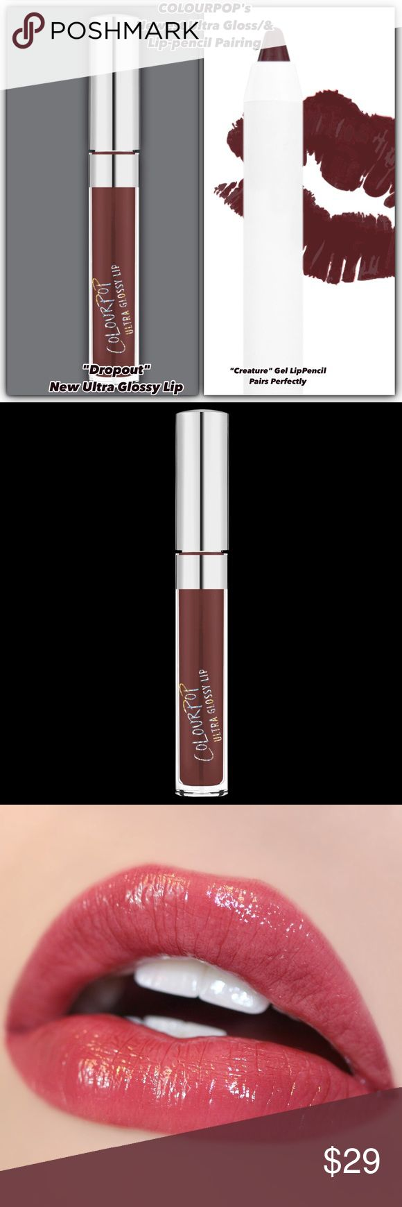 """💋Nip/Colorpop's """"Dropout"""" Ultra Gloss+Creature 💋Nip Colourpop's Ultra Gloss/For an Ultra Glossy Lip! No graduation day 4-U? U'll still rock this chocolate raspberry! Colourpop selected the Creature Lip-pencil pair well with gloss that U can wear alone/w the pencil/+ on top of ur Fav Lippie Stix? The doe foot applicator will give easy+precise application. But try NEW THINGS! Dare 2-B different in ur lipwear! Feel ur freedom & mix & match/create different looks! WOW a new look EVERY DAY! I'm…"""