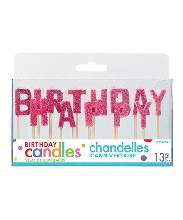 This Pink Glitter Happy Birthday Candle Pick