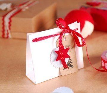 Bolsa de cartón para regalos de Navidad
