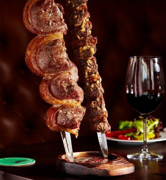 Fazenda -Leeds - it's a meat feast. Always wise to wear trousers with an elastic waist