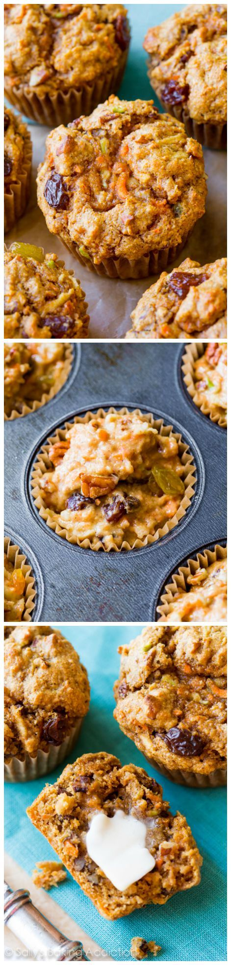 Hands down, one of my favorite muffin recipes! Freezer friendly, wholesome, healthy, and EASY morning glory muffins!